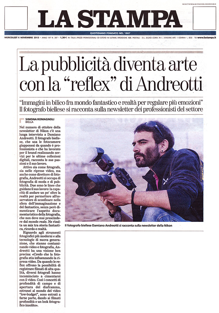 """"""" La Stampa """" 06 novembre 2013"""